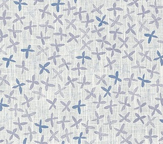 REBECCA ATWOOD: FLORAL STAMP Gray/Blue
