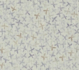 REBECCA ATWOOD: FLORAL STAMP Gray-Lilac/Taupe