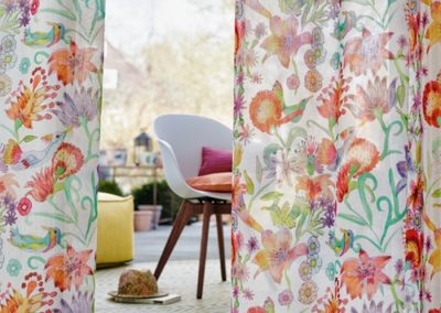 Floral Drapery